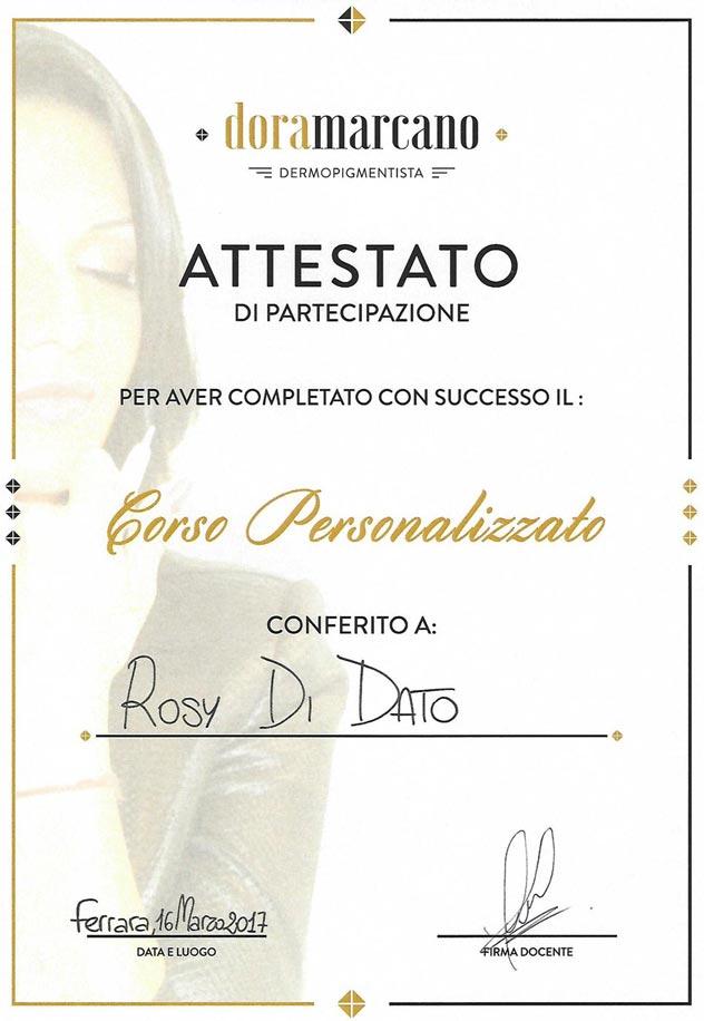 Corso Personalizzato Dermopigmentista Rosy Di Dato Dermopigmentista - Presso Dora Marcano