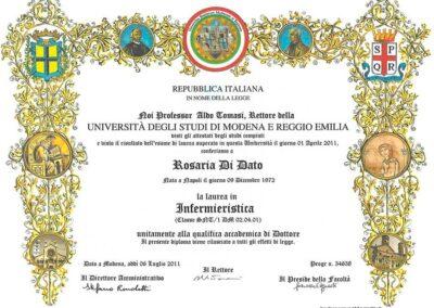 Laurea Infermieristica Rosy Di Dato Dermopigmentista Università UNIMORE Modena e Reggo Emilia