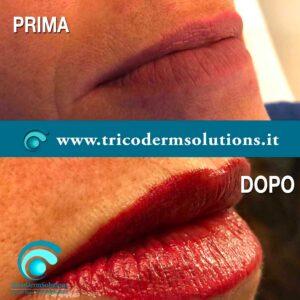 Trucco Semipermanente Labbra Prima e Dopo